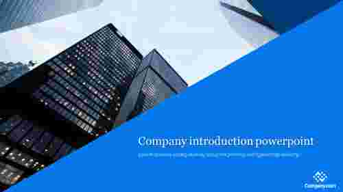 A one noded company introduction powerpoint template
