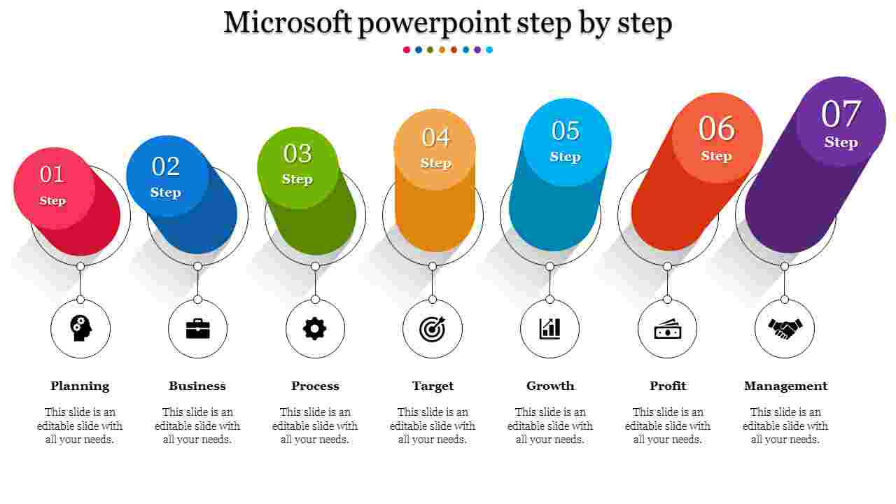 A seven noded Microsoft powerpoint step by step