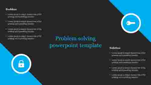 A two noded problem solving powerpoint template