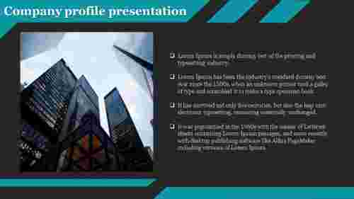 A one noded company profile presentation template
