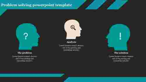 A three noded problem solving powerpoint template