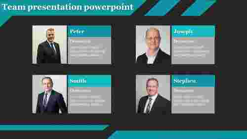 A four noded team presentation powerpoint