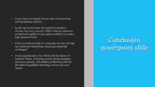 Conclusion powerpoint slide template