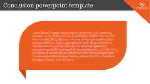 Business conclusion powerpoint template