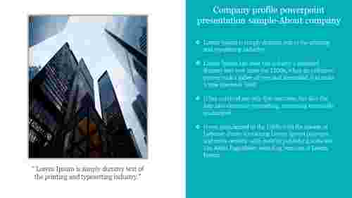 About company profile powerpoint presentation sample