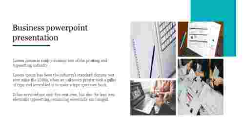 Business powerpoint presentation with portfolio design