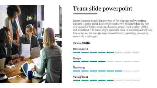The skills of team slide powerpoint