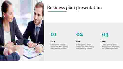 Modern business plan presentation