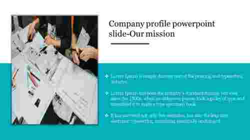 Our mission company profile powerpoint slide