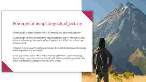 Portfolio Powerpoint template goals objectives for business