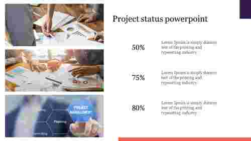 Project status powerpoint for presentation