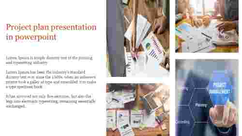 Creative project plan presentation in powerpoint