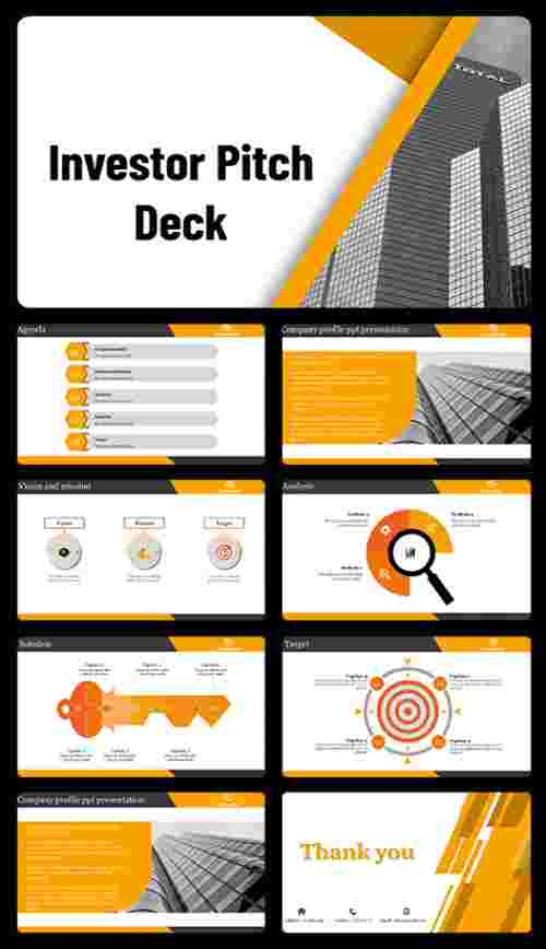 Investor pitch deck powerpoint slides