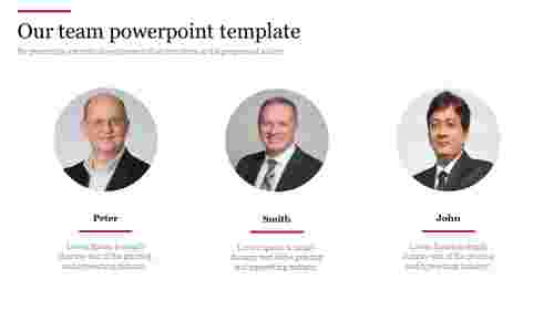 Our team powerpoint template with portfolio model