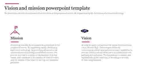 Vision and mission powerpoint template for company presentation