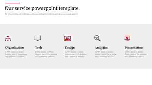 Our service powerpoint template with icons