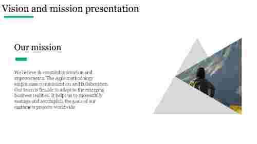 Vision and mission presentation for company