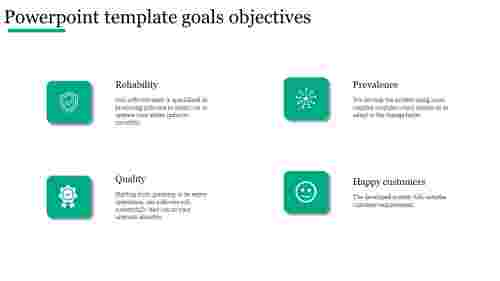 Best Company powerpoint template goals objectives