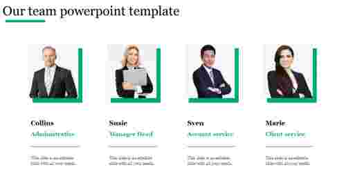 Our team powerpoint template for company presentation