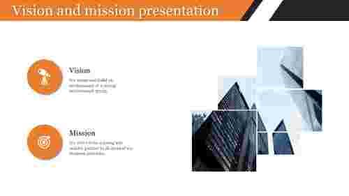 vision and mission presentation with portfolio design