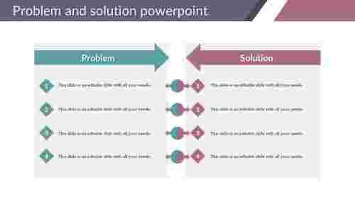 Problem and solution powerpoint for company