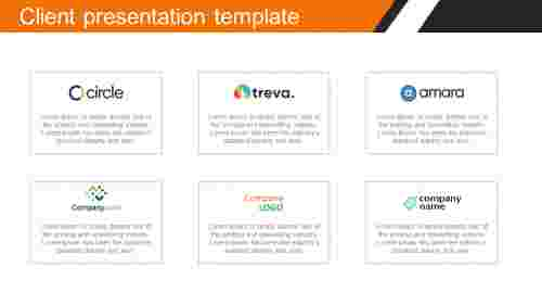 Client presentation template with logos