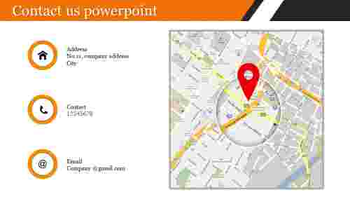 Company contact us powerpoint