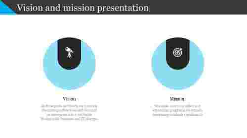 vision and mission presentation - circle design