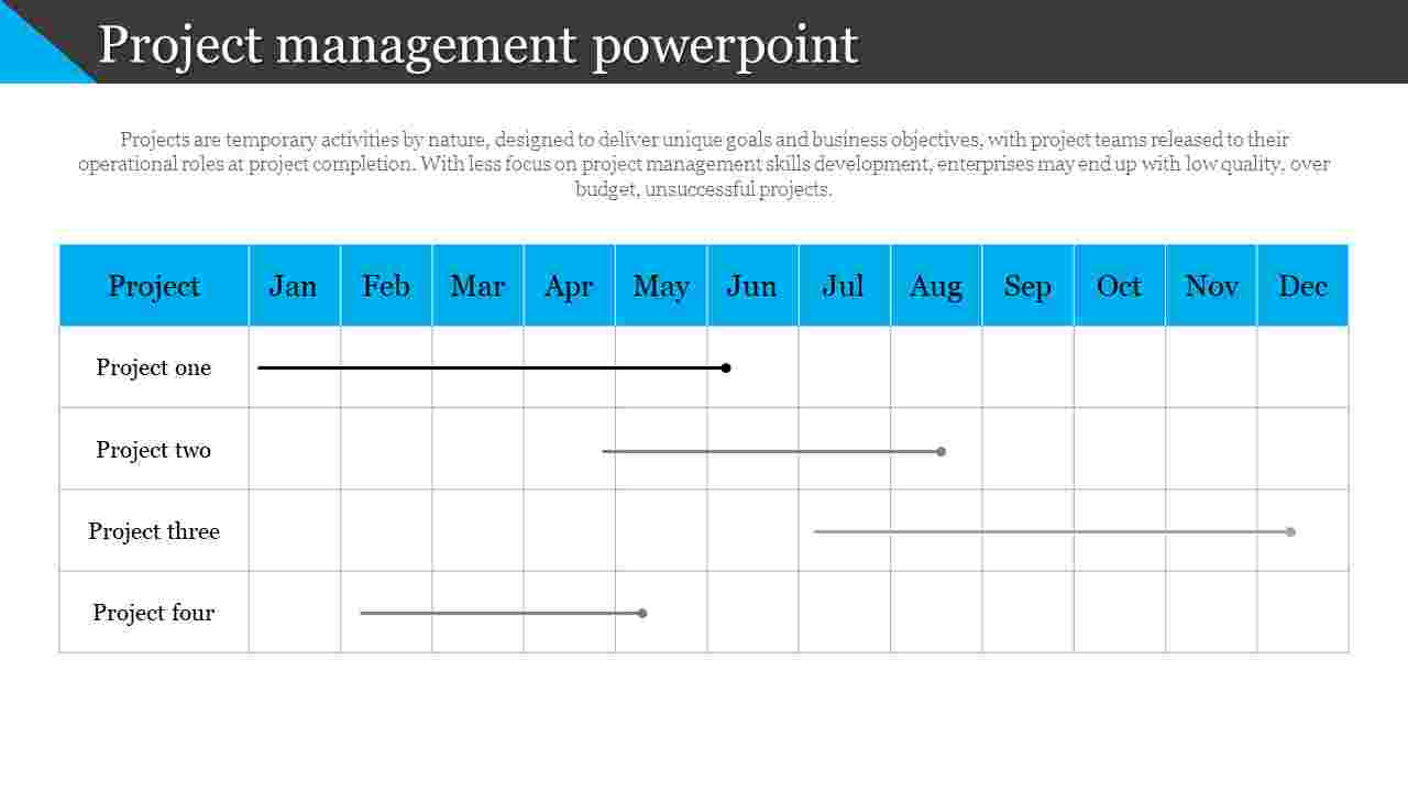 Company project management powerpoint