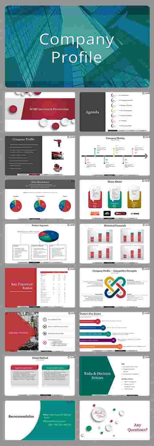 Company profile slide templates for presentation