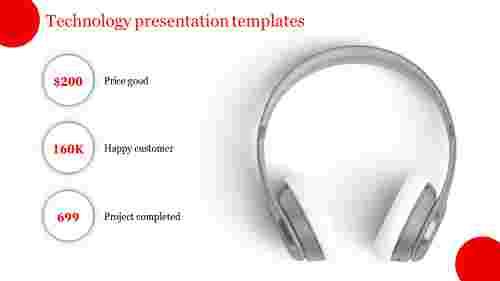 Technology presentation templates - Headphones model
