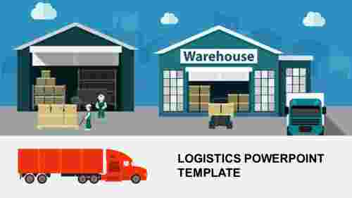 Logistics powerpoint template