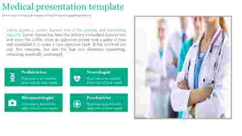 A four noded medical presentation template