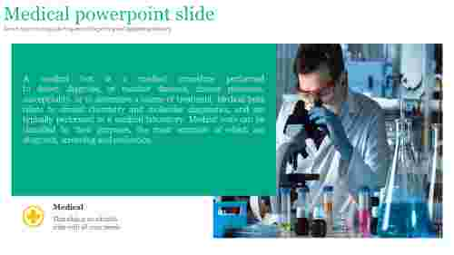 A one noded medical powerpoint slide