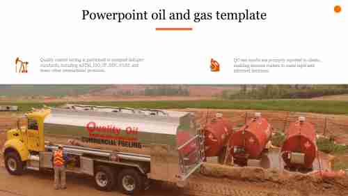 A two noded powerpoint oil and gas template