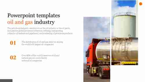 A two noded powerpoint templates oil and gas industry