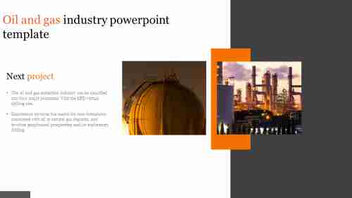A one noded oil and gas industry powerpoint template