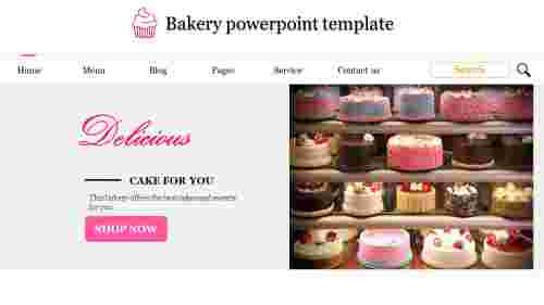A six noded bakery powerpoint template