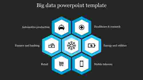 Big data powerpoint template - Hexagon model
