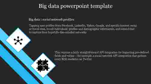 A two noded Big data powerpoint template