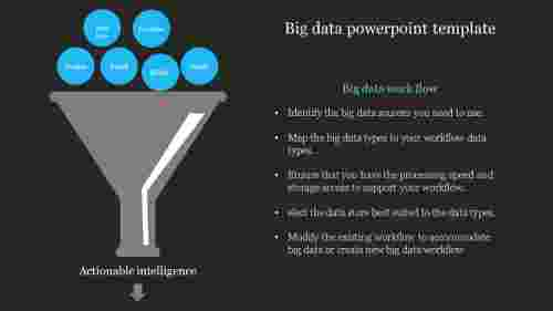 Dark background big data powerpoint template