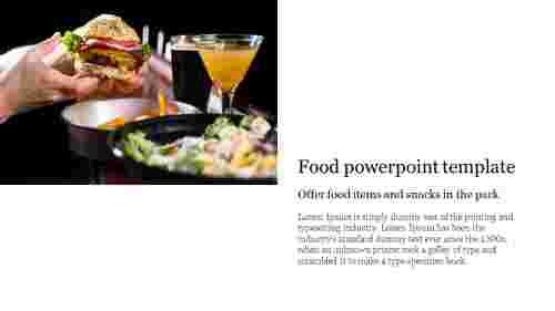 A one noded food powerpoint template