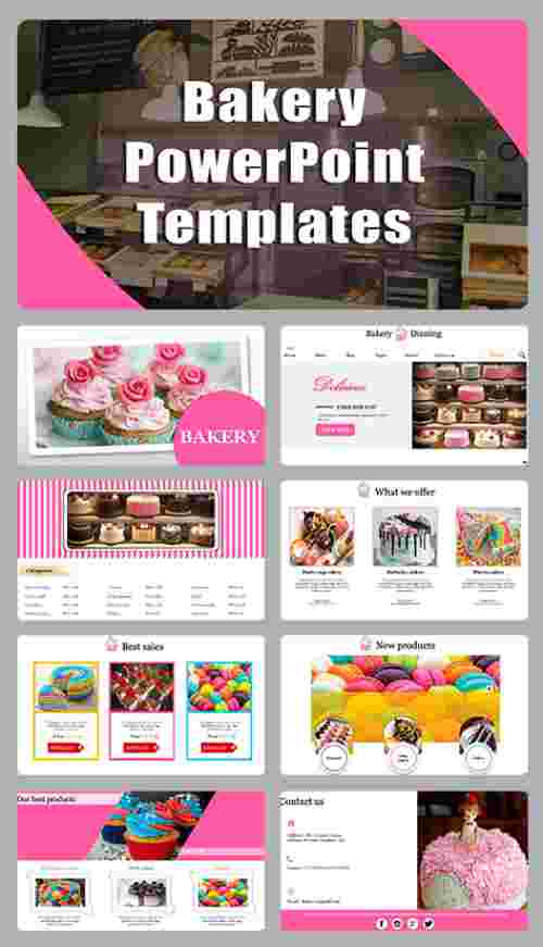 A eight noded bakery powerpoint templates