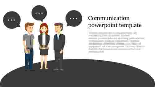 A one noded communication powerpoint template