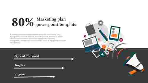 A one noded marketing plan powerpoint template