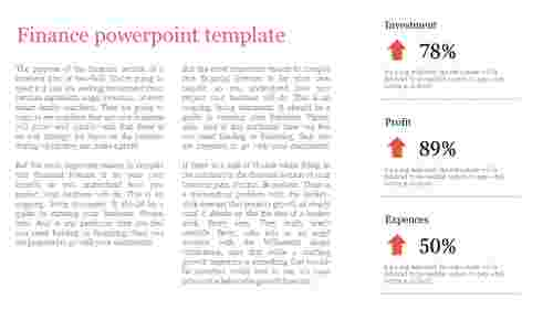 A three noded finance powerpoint template