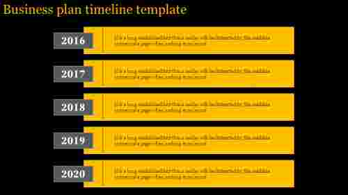 A five noded business plan timeline template