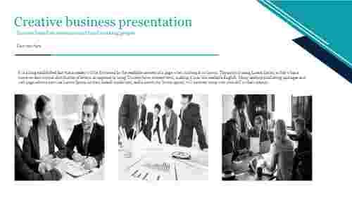A three noded creative business presentation