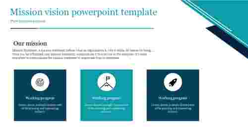 A three noded mission vision powerpoint template