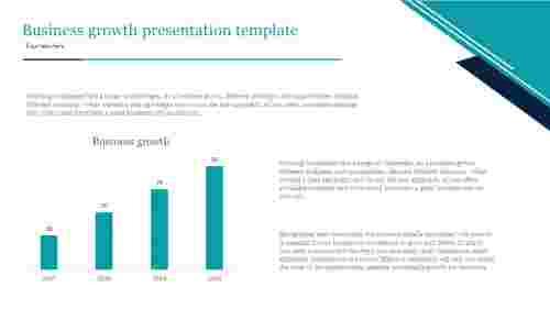 A four noded business growth presentation template